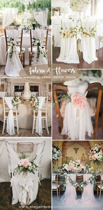 45 Awesome Ideas to Decorate Your Wedding Chairs