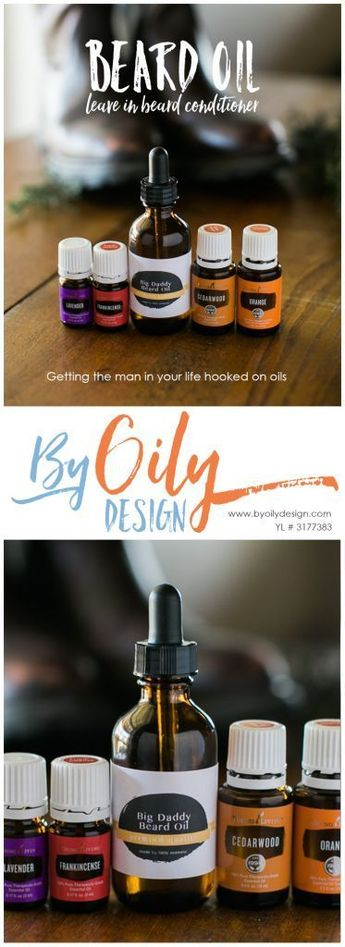 DIY Beard Oil to condition and help encourage beard growth.