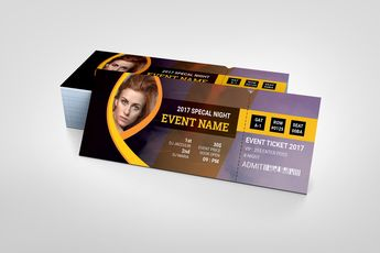 Printable Event Ticket Template - Graphic Templates