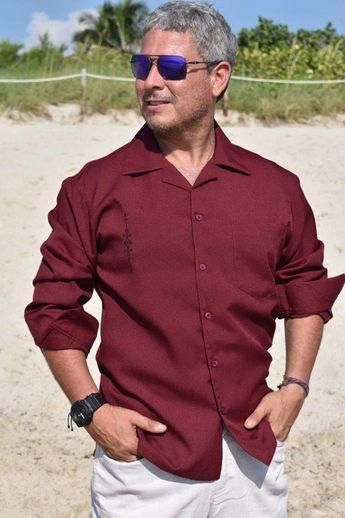 b203aab2a6 Men s Long Sleeve Blue Dress Casual shirt Premium Cotton D Accord 448