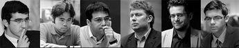 Um tigre faminto  Depois de amargar péssima campanha no recente Torneio de Gibraltar, o GM Viswanathan Anand (2784) mostrou que está vivo e bem vivo e, o que é mais marcante: está cheirando o sangue das suas presas a quilômetros de distância. Isto mesmo, o Tigre de Madras, como ele é conhecido na Índia, devorou o GM Levon Aronian (2792)  em apenas 19 lances! A partida, pelo sistema rápido, foi jogada ontem, pela quinta edição do Chess Challenge Zurique, que conta com seis grandes mestres (veja