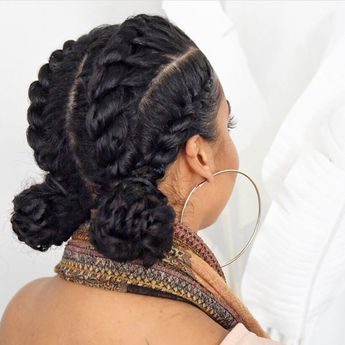 #Currently: taking notes on @lipstickncurls' #protectivehairstyle! ❤️How cute!? #carolsdaughter #hairspiration | Content shared via Carol's Daughter Inspiration Gallery