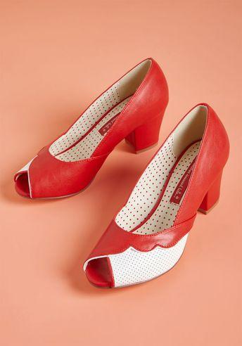 B.A.I.T. Footwear Sentimental Stepper Peep Toe Heel