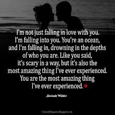 Recently shared falling in love unexpectedly quotes my life
