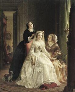 """""""The Bride"""", Josephus Laurentius Dyckmans, 1845-1850; The Athenaeum"""