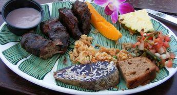 Old Lahaina Luau Food