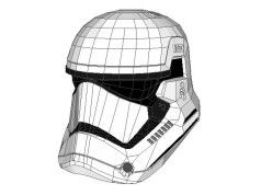 Star Wars - Life Size Stormtrooper Helmet for Cosplay Free Papercraft Download