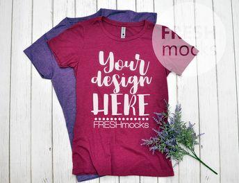 4dbb8bc1 Next Level 6610 Ladies Tshirt T-Shirt Tee MOCKUP - LUSH Fuchsia Tshirt Mock  Up