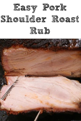 Easy Smoked Pork Shoulder Roast!! Plus Homemade Rub