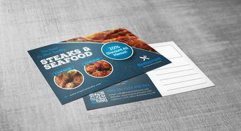 Luxury Restaurant Postcard Design Template - Graphic Templates