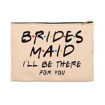 Bridal Makeup Bag, Bridesmaid Clutch, Bridesmaid Makeup Bag, Personalized Makeup Bag, Bride Makeup B