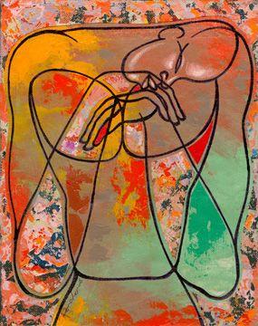 Steve Green Original Modern Abstract African American By Ba
