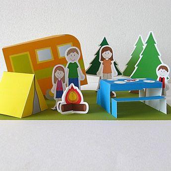 Printable Paper Scenes: by Neskita from Santiago, Chile