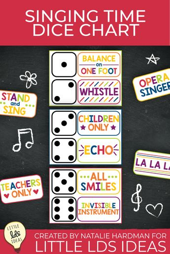 Engage Primary children with this Singing Time Dice Chart!