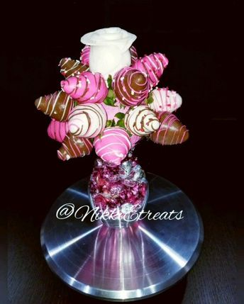 """I'd say """"I do"""" to an edible bouquet too Strawberry Rose Bouquet  #NikkiEtreats #blingberries #strawberrybouquet #strawberryrose #valentinesday #Love #Diva #candyapples #chocolatecoveredstrawberries #chocolatestrawberries #chocolatestrawberry #chocolate #strawberry #infusedstrawberries #infused #chocolateheels #highheels  #highheelshoes #chocolatehighheel #chocolatehighheels #chocolatehighheelshoes  #chocolatehighheelshoe #atlanta #atlart #atlantaart #atlstrawberries #atlsweets #nowthatsludicrous"""