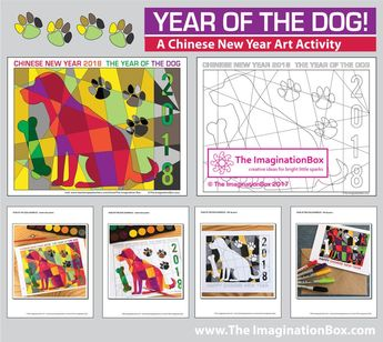 download this free chinese new year 2018 year of the dog coloring page printable activity pack