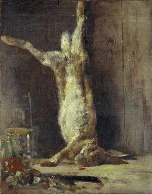 Giovanni Segantini (1858-1899) - Natura morta con coniglio morto (Still Life with Dead Rabbit) - 1884 -  Museo Segantini, Saint Moritz