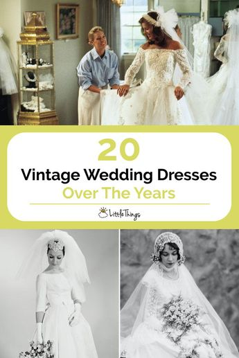 20 Vintage Wedding Dresses Over The Years: No wedding is complete without the perfect wedding dress. Take a journey through time with these 20 photos of vintage wedding dresses, from the Victorian era to the 1990s!