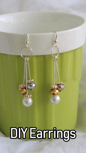 Learn how to make simple #DIY earring #jewelrymaking
