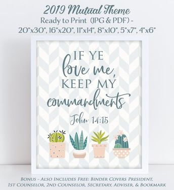 2019 Youth Theme Binder Bundle, If Ye Love Me Keep My Comma