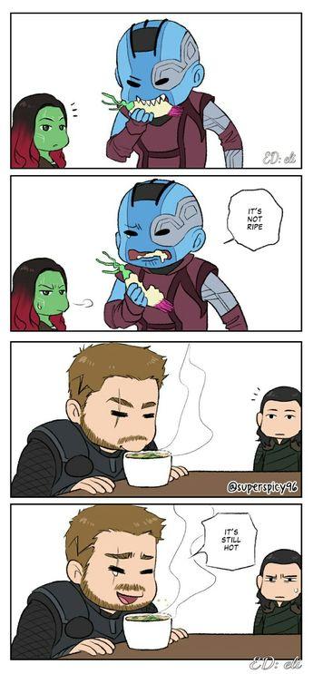 Siblings    Thor Loki Gamora Nebula    Guardians of the galaxy    Avengers Infinity War    Cr: superspicy96