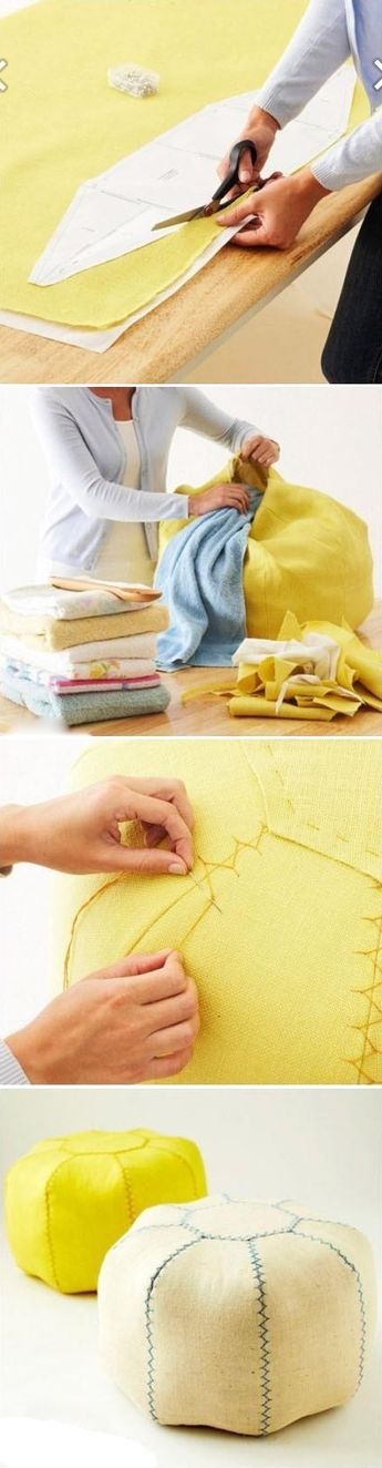 How to make love seat with recycled cloth step by step DIY tutorial instructions