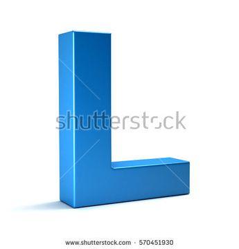 L Letter Icon. 3D Render Illustration