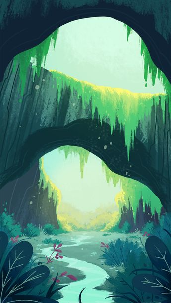 Illustration / Cave Meadow by coryosterberg