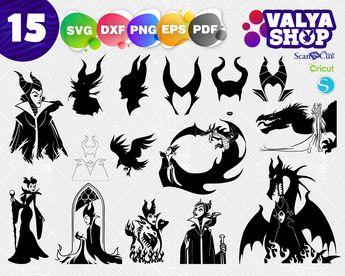 Halloween Horns Monogram Frames Svg Spooky Svg Maleficent