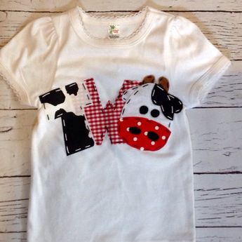 2 Barnyard Birthday Shirt Two Cow 2nd Girl T Barn