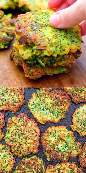 These light, golden-brown Broccoli Fritters make a delicious vegetarian dinner or lunch — and kids love them, too! Ready in less than 30 minutes. FOLLOW Cooktoria for more deliciousness! #broccoli #fritters #lunch #mealprep #vegetarian #snack