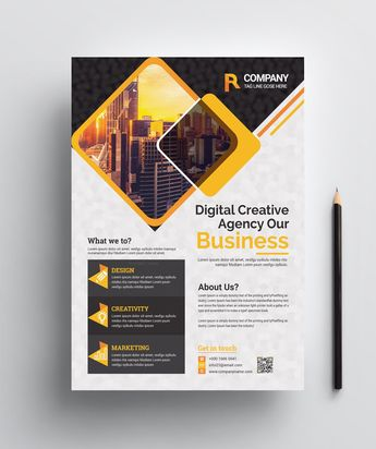 Corporate Print Flyer Template 002455 - Template Catalog