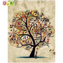 DPF DIY Music tree 5D diamond embroidery crafts diamond painting cross stitch needlework diamond mosaic full square home decor