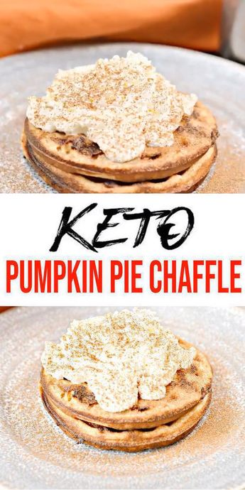 BEST Keto Chaffles! Low Carb Pumpkin Pie Chaffle Idea – Homemade – Quick & Easy Ketogenic Diet Recipe – Completely Keto Friendly