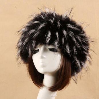 369d5225ff8 Yyun Luxury Brand Russian Cossack Style Faux Fur Headband for Women Winter  Earwarmer Earmuff Hat Ski