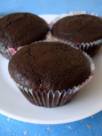 Eggless Chocolate Brownie Cupcake Recipe