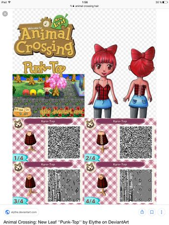 Animal crossing new leaf qr code black and white dress | An