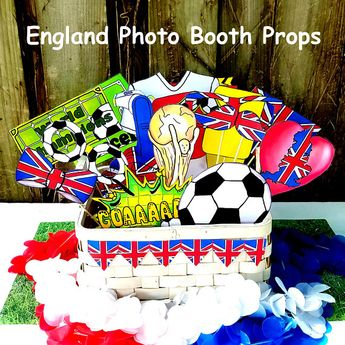 3a823bbe418 World Cup ENGLAND soccer photo booth props - the ultimate fan accessory -  2018 FIFA Soccer