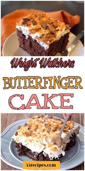 Butterfinger Cake  #weightwatchers #butterfinger #cake #cakerecipes #christmas #dessertrecipes