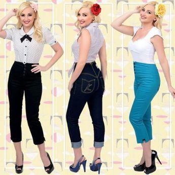 1950s Pants & Jeans- High Waist, Wide Leg, Capri, Pedal Pushers