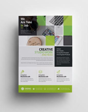 Angular Elegant Premium Business Flyer Template - Graphic Templates