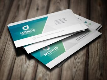 Clean Stylish Business Card Design Template 5