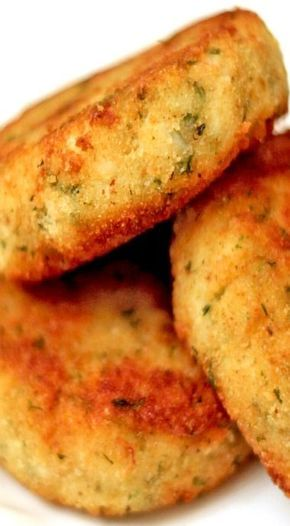 Easy Crab Cakes _ This is a quick and easy recipe for crab cakes that uses canned crab meat instead of fresh, making it something that won't require running out for fresh seafood. I make these a lot!