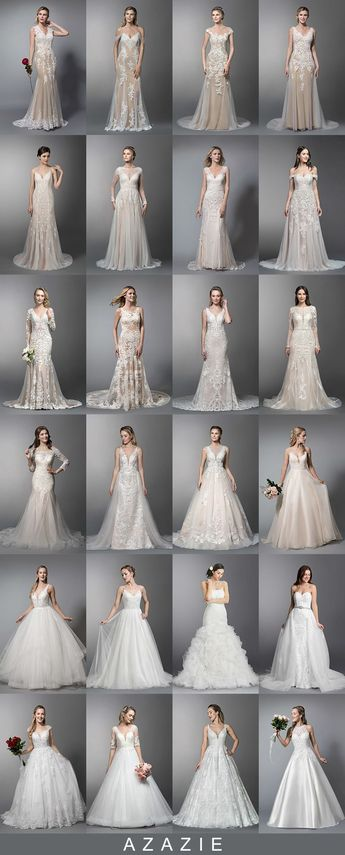 Chic & Timeless bridal gowns which are the best match for your big day! Azazie offers more than 200 unique wedding gowns in different styles, colors, fabrics and lengths for you to choose from! Available in full size range (0-30) and free custom sizing.