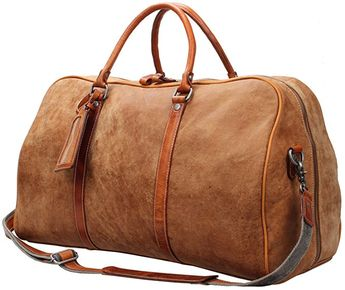 40f08a890189  Affiliate  iblue Leather Carry On Bag Travel Weekender B