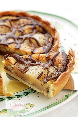 Hummm ! Tarte chocolat poire : la recette du 18 août sur Un Jour, Une Recette