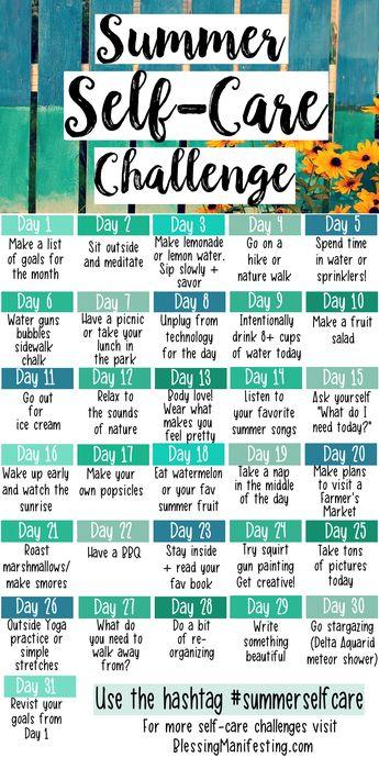 31 Summer Self-Care Ideas