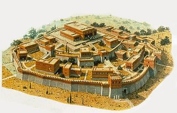 Reconstruction of Homeric city of Troy by G. Dagli Orti