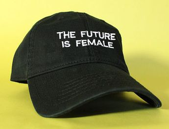 90baddf34 The Future Is Female Black Pink White Dad Hat Dad Cap Baseball Hat Baseball  Cap Embroidered