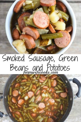 This Smoked Sausage, Green Beans and Potatoes is a classic, easy, Midwestern one skillet meal that every one will love!